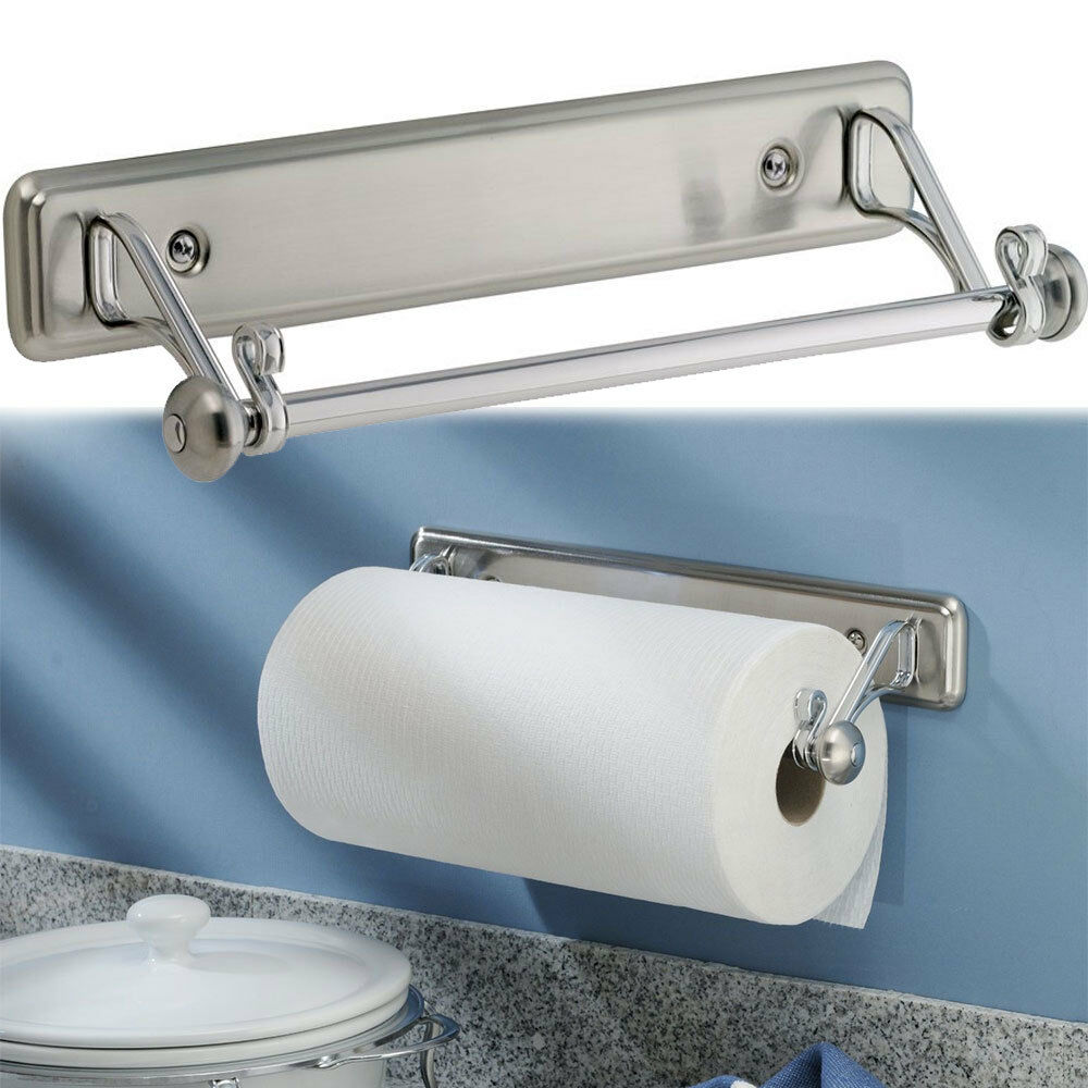 New York Kitchen Wall-Mount Paper Towel Holder, Stainless Steel ...