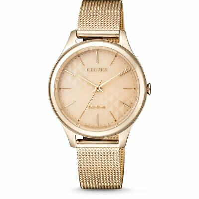 Citizen Eco-Drive Women's Rose Gold Tone Mesh Band 32mm Watch EM0503-83X
