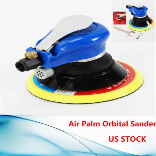 6INCH Air Palm Orbital Sander Random Hand Sanding Pneumatic Round 10000 RPM BEST