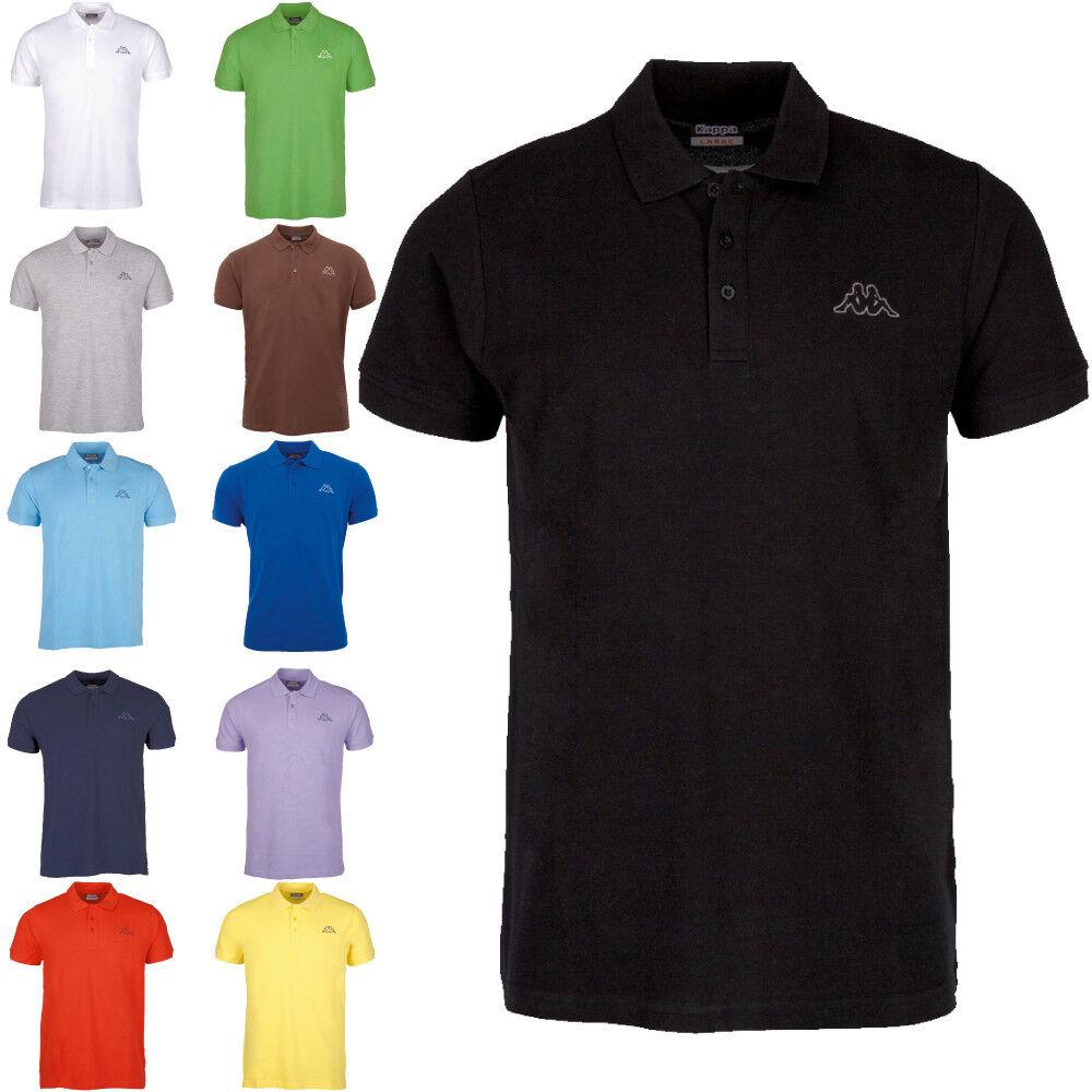 Kappa Herren Poloshirt kurzarm, Golf-Shirt, Polohemd, Polo-Shirt, T-Shirt, M-4XL