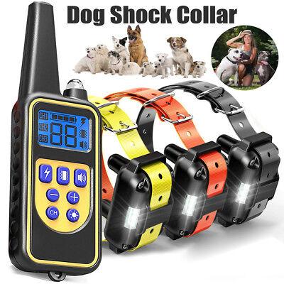 Dog Shock Training Collar Electronic Remote Control Waterproof 875 Yard 2/3 Dogs