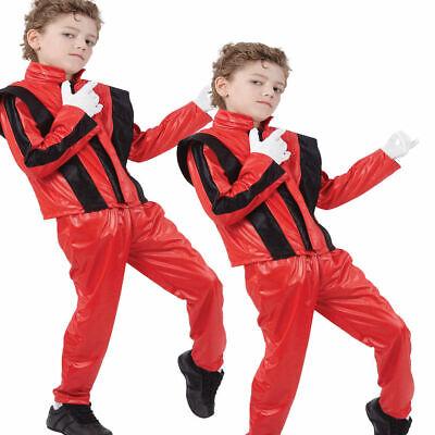 Jungen Michael Jackson Superstar Kostüm Kostüm Kinder 80s Pop - Pop Star Kostüm Kind