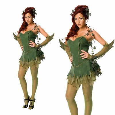 Lizenziert Damen Gift Efeu Sexy Kostüm Superheld Batman Halloween Kostüm - Poison Ivy Kleid Kostüm