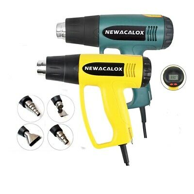Electric Heat Gun 2000w 220v Thermoregulator Lcd Shrink Wrapping Nozzle Home Diy