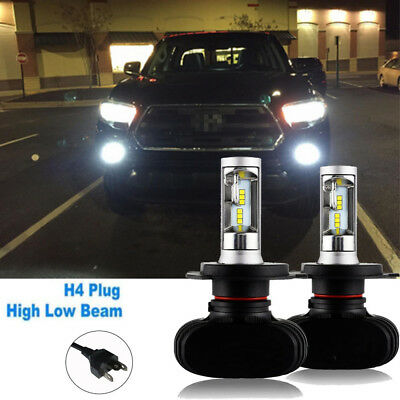 Car LED H4 Headlight Replace Bulbs Lamp Hi/Lo Beam 4000LM