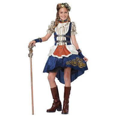 Tween Girl Steampunk Fashion Costume sz XL 12-14 - Steampunk Fashion Girl