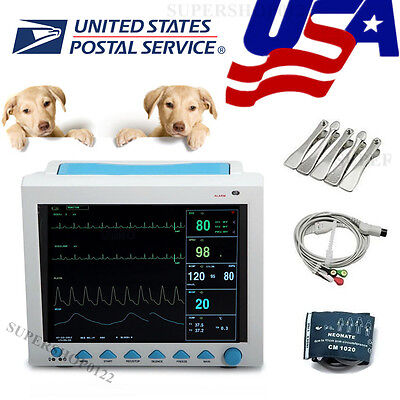Usa Vet Portable Veterinary Patient Monitorecgnibpspo2prresptempfda Ce