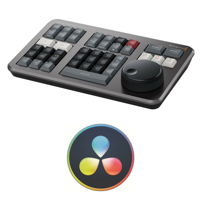 Blackmagic Design DaVinci Resolve Speed Editor with DaVinci Resolve 17 (Dongle)