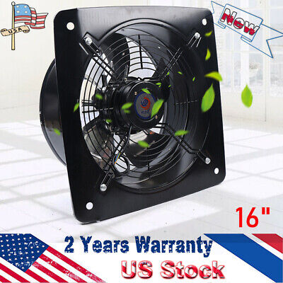 16 Inch Industrial Ventilation Extractor Axial Exhaust Air Blower Fan Commercial