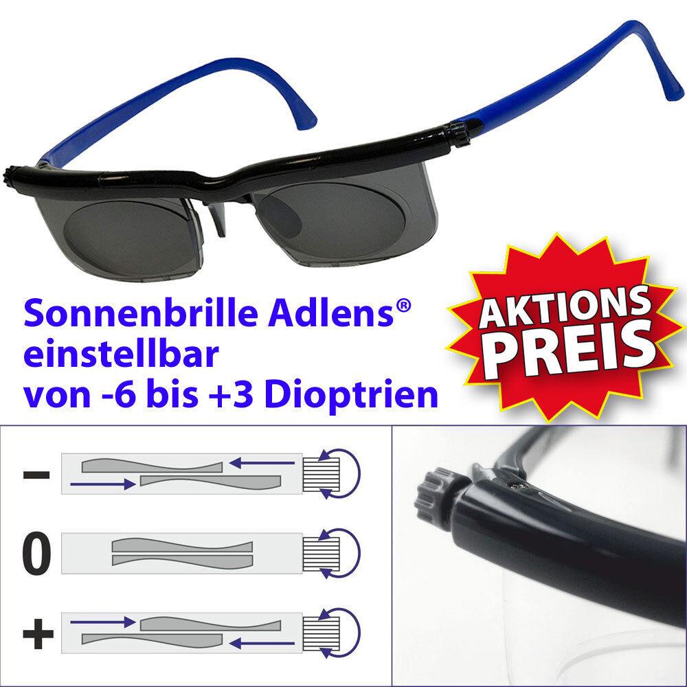 Sonnenbrille adlens® einstellbar -6 +3 Lesebrille Gleitsicht Brille Sportbrille