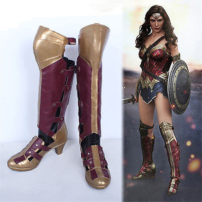 Kukucos Batman Wonder Woman Diana Prince Boots Cosplay Shoes Female US 8 - Female Batman Cosplay