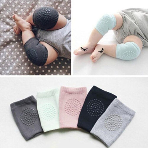 5Pair Baby Safe Soft Anti-slip Elbow Cushion Crawling Knee Cover Infant Toddler