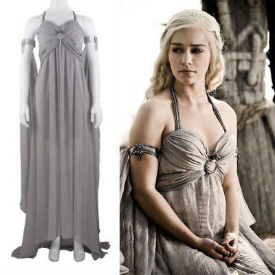 Game of Thrones Mother of Dragons Daenerys Targaryen Costume Great Queen Dress