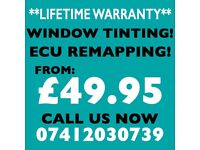 ** FROM £49.95 ** CAR WINDOW TINTING, ECU REMAPPING , DPF & EGR DELETE!