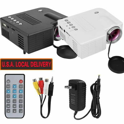 1080P HD Home Multimedia Cinema Theater LED Mini Projector USB AV TV VGA HDMI US
