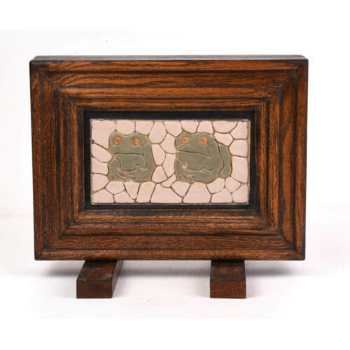 STARK BRICK COMPANY ARCHITECTURAL CERAMIC TILE WITH FROGS FRAMED