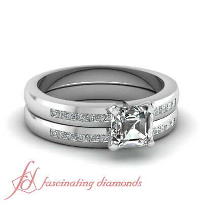 Engagement Rings And Wedding Bands For Women With Asscher Cu