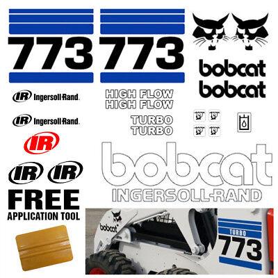 Bobcat 773 V2 Skid Steer 21pc Set Vinyl Decal Sticker Bob Cat Free Tool