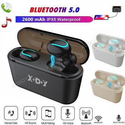 Bluetooth5.0 Headset TWS Drahtlose Kopfhörer Twins Earbud 5D Stereo-Kopfhörer DE