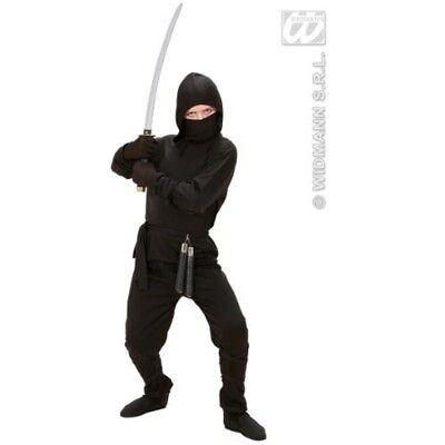 Children's Ninja Costume Small 5-7 Yrs (128cm) For Oriental Chinese Fancy Dress