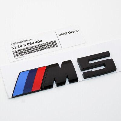 Gloss Black F10 M5 Competition Package Logo Emblem Badge OEM Trunk Luggage Lid