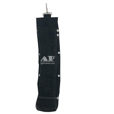 Ap-9110bk Black Fr Leather Welding Rod Holder Electrode Bag 5 Lb Capacity