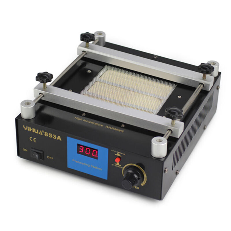 YIHUA853A BGA Infrared Rework Electronic Hot Plate Preheat Preheating Station US