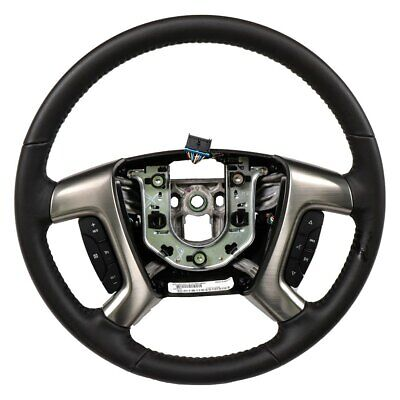 For Chevy Express 2500 08-16 4-Spoke Ebony Leather Wrapped Steering Wheel