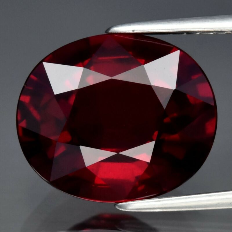 6.49ct 12.3x10.4mm Oval Natural Red Garnet, Mozambique