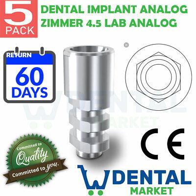 X 5 Zimmer 4.5 Dental Implant Analog