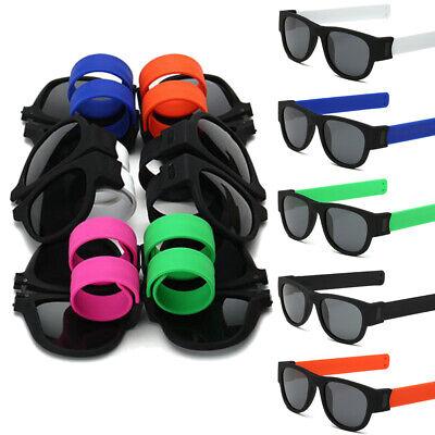 80s Slap Bracelets (Collapsible Polarized Sunglasses Slap Wristband Glasses Snap Bracelet)