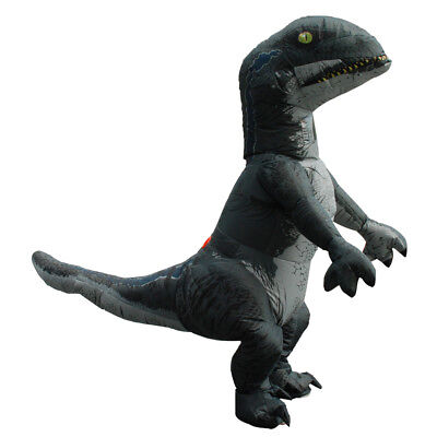 Inflatable Velociraptor Dinosaur Costume Adult T rex Cosplay Halloween Blow Up - Blow Up T Rex