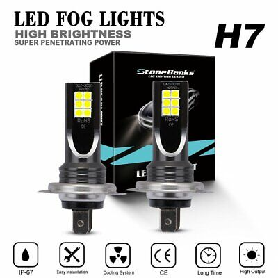 2x H7 CAR LED Headlight Kits 110W 20000LM FOG Light Bulbs 6000K Driving DRL Lamp