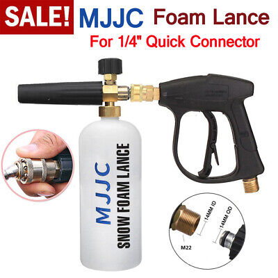 """MJJC 1/4"""" Pressure Snow Foam Washer Jet Wash Lance Soap Spray Cannon With Gun for sale  Shipping to South Africa"""