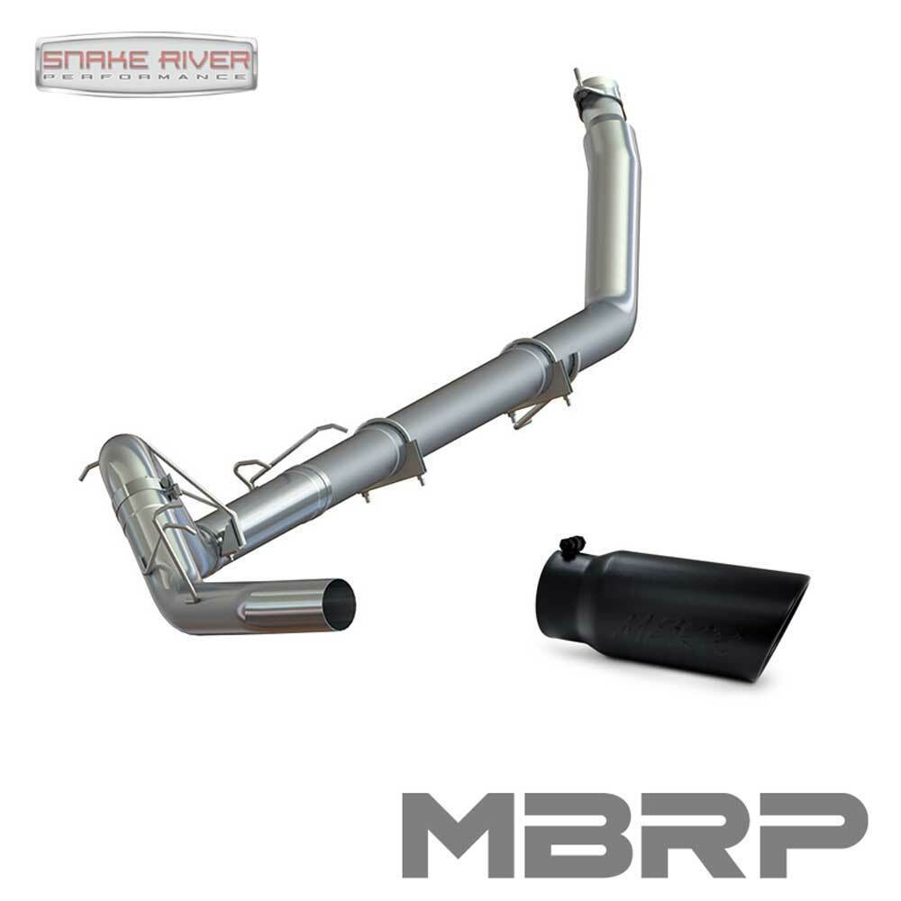 Turbo Cat Back Exhaust System w//5 inches OD Stainless Steel Tip for Dodge Ram Truck 2500 3500 5.9L Diesel 94-02