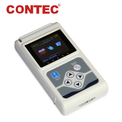 Tlc9803 Contec 3-lead Ecg Holter 24 Hour Monitor Recorder Sync Software Analyzer