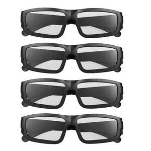 4x Passive Polarized 3D Glasses for LG Panasonic Vizio TV Real D Film 3D Cinema