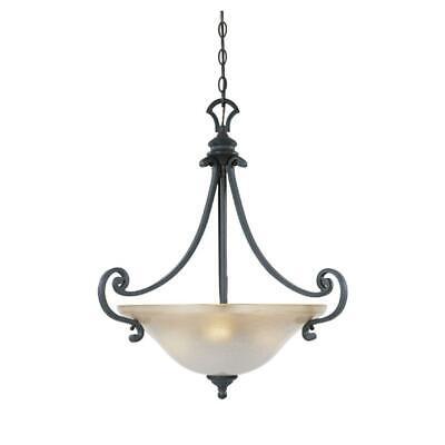 Natural Iron Bowl Pendant (Designers Fountain 96131-NI Natural Iron Three Light Down Lighting Bowl Pendant )
