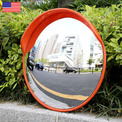 60cm Security Mirror Convex Traffic Road Safety Driveway Wide Angle View Outdoor