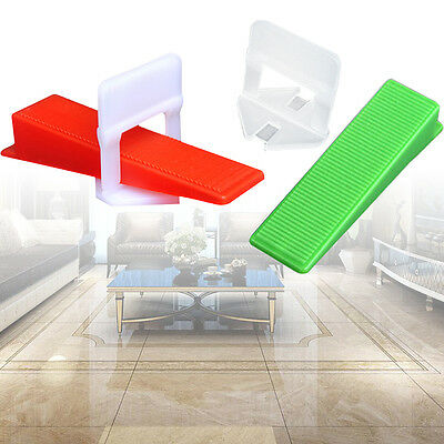 300/400pcs Tile Flat Leveling Clips Wedges System Floor Wall Spacers Device