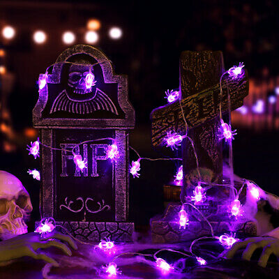 3.5M 30 LEDs Purple Light Battery Powered Patio Halloween Garden String Lights