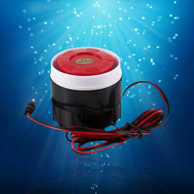 Continuous Sound Decibel Piezo Buzzer Ic Alarm Speaker Dc 12v 120db Blackred