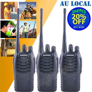 3*Walkie Talkie UHF 5W 16CH 400-470MHz H500 Portable Two-Way Radio AU Stock