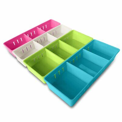 Mmmmarilyn Drawer Organizer With 2 Adjustable Drawer Dividers White S Pink S..