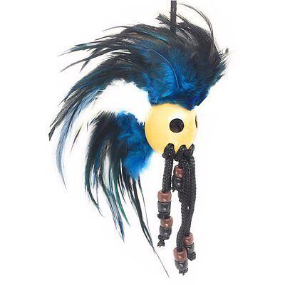 Hawaiian Ikaika Warrior Helmet - Blue, Black, and White