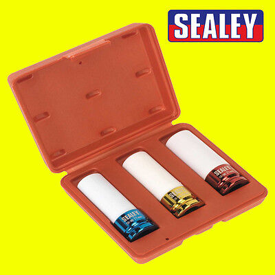 "Sealey Alloy Wheel Chrome Molybdenum Impact Socket Set 3pc 1/2""Sq Drive - SX031"