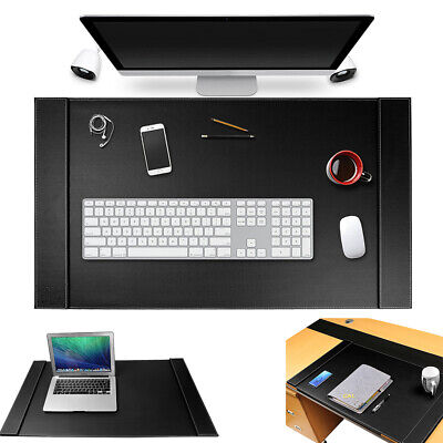 Large Vegan Leather Office Desk Pad Mouse Keyboard Laptop Writing Mat 34 X 20
