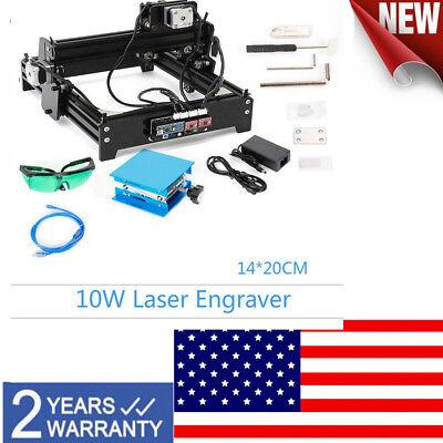 10w Diy Desktop Cnc Engraver Metal Laser Cutter Engraving Machine Usb Engraver
