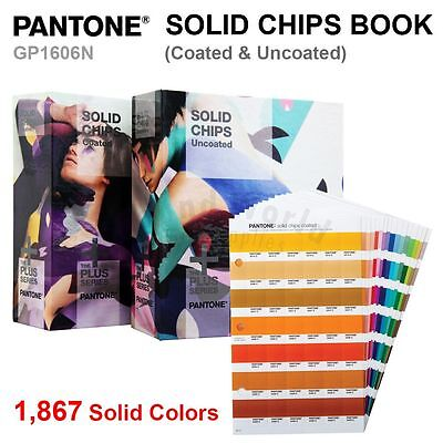 Pantone Color Plus Series Gp1606n Solid Guide Chips Book Coated Uncoated