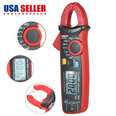 Uni-t Ut210e Auto Range Acdc Current Clamp Meter Lcd Digital Multimeter Tool